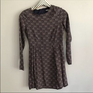 3/$15 Fashion Union Long Sleeved Print Dress